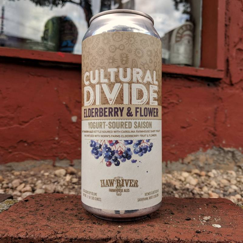 Haw River 'Cultural Divide Elderberry & Flower' Yogurt-Soured Saison 16oz (Can)