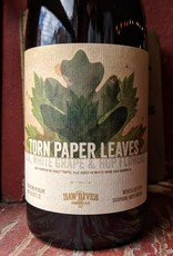 Haw River 'Torn Paper Leaves Oak, White Grape, Hop Flower' Barrel-aged Tripel 500ml