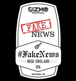 Gizmo BrewWorks 'Fake News' New England-Style IPA 12oz Sgl (Can)