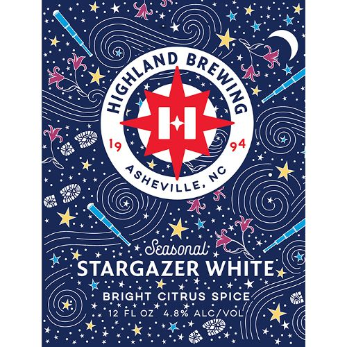 Highland Brewing Company 'Stargazer' Citrus White 12oz (Can)