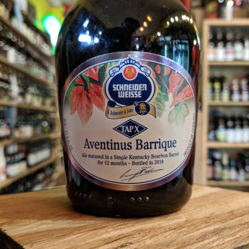 Schneider 'Aventinus Barrique 2018' Ale matured in a Single Use Bourbon Barrel 375ml