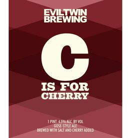 Evil Twin Brewing 'C is for Cherry' Gose 16oz (Can)