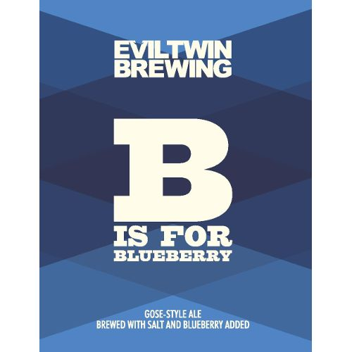 Evil Twin 'B is for Blueberry' Gose 12oz (Can)