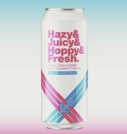 Hi-Wire 'Hazy & Juicy & Hoppy & Fresh 2.0' New England-Style Double IPA 16oz (Can)