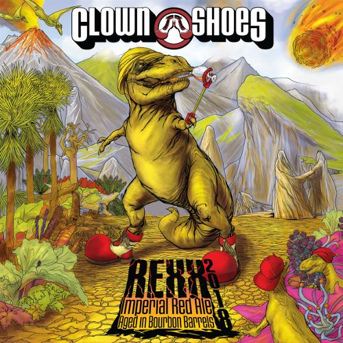 Clown Shoes 'Rexx' Imperial Red Ale aged in Bourbon Barrels 22oz