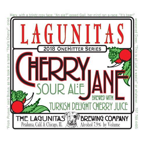 Lagunitas 'Cherry Jane' Sour Ale with Turkish Delight Cherry Juice 12oz Sgl