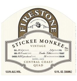 Firestone Walker 'Stickee Monkee 2018' Barrel-aged Quad 375ml