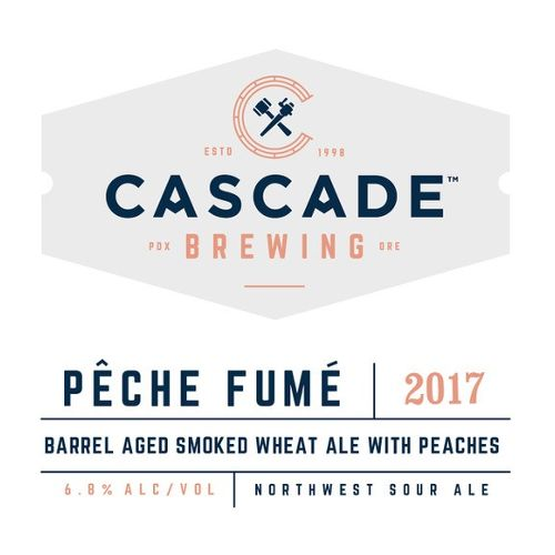 Cascade 'Pêche Fumé 2017' Barrel-aged Smoked Wheat Ale w/ Peaches750ml