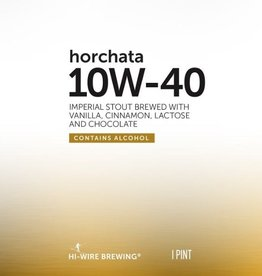 Hi-Wire 'Horchata 10W-40' Imperial Stout w/ Vanilla, Almonds, Cinnamon, Lactose & Chocolate 16oz (Can)