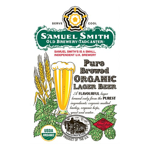 Samuel Smith 'Pure Brewed Organic Lager' 500ml (Can)