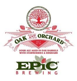 Epic 'Oak and Orchard' Sour ale Aged in Oak Barrels w/ Strawberries & Rhubarb 375ml