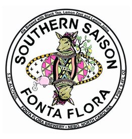 Fonta Flora Brewery 'Southern Saison' Farmhouse Ale w/ Black Tea and Lemon Juice 750ml