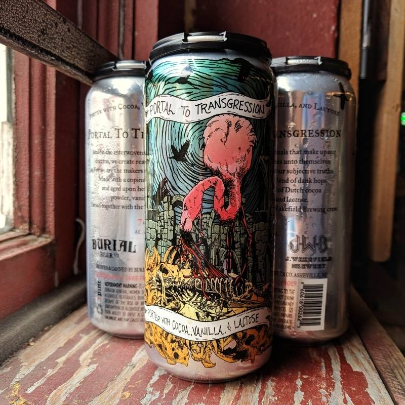 Burial Beer Co. x J. Wakefield 'Portal to Transgression' Porter with Cocoa, Vanilla, and Lactose 16oz (Can)