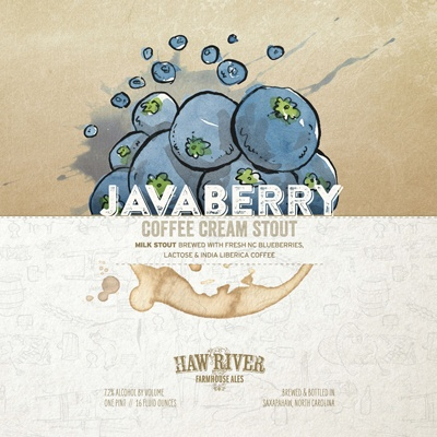 Haw River Farmhouse Ales 'Javaberry' Coffee Cream Stout 16oz (Can)