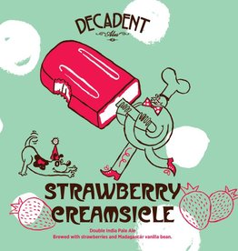 Decadent Ales 'Strawberry Creamsicle' Double Dry-hopped IPA w/ Strawberries and Madagascar Vanilla Bean 16oz (Can)