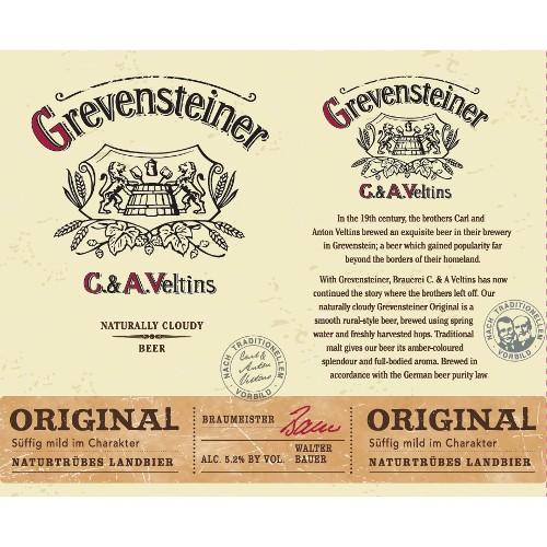Veltins 'Grevensteiner' Original Naturtrübes Landbier 16oz (Can)