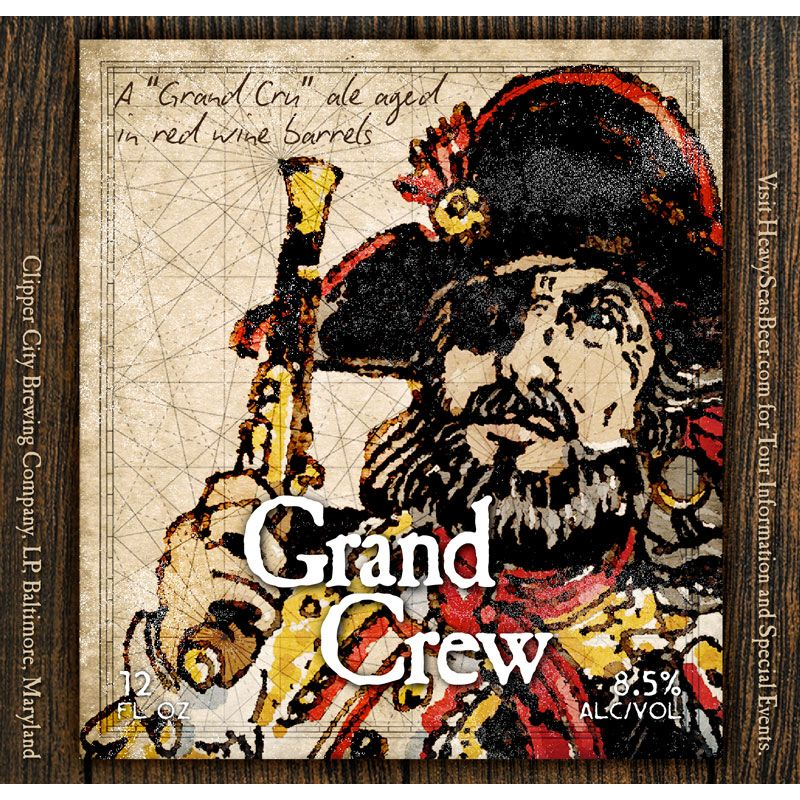 Heavy Seas 'Grand Crew' Red Wine Barrel-aged Belgian Amber 12oz Sgl