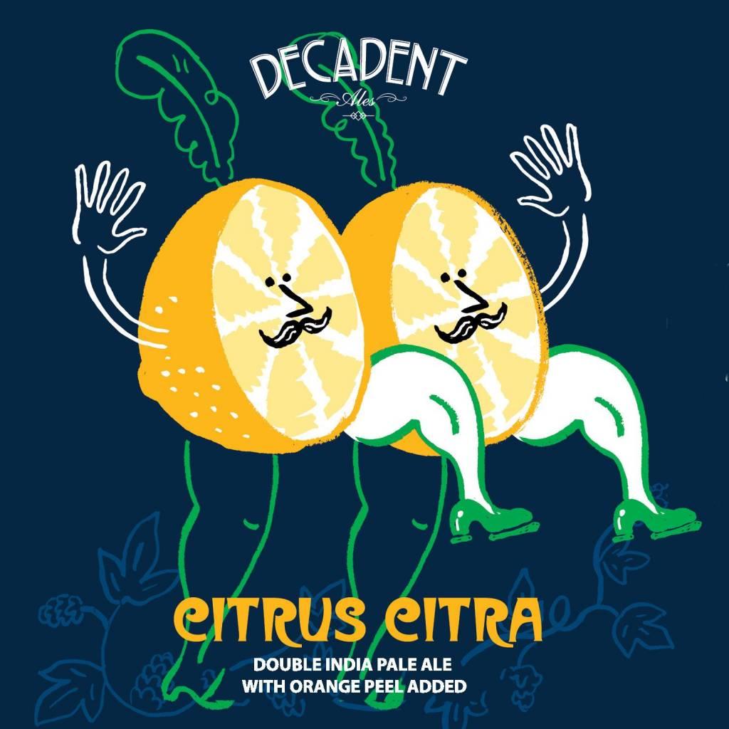Decadent Ales 'Citrus Citra' Double IPA w/ Orange Peel 16oz (Can)