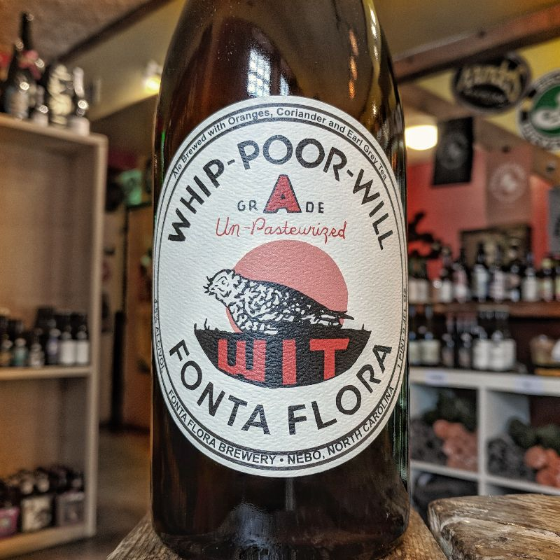 Fonta Flora Brewery 'Whipoorwill Wit' Witbier with Earl Gray Tea 750ml