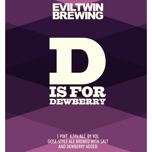 Evil Twin Brewing 'D is for Dew Berry' Gose-style Ale 16oz (Can)