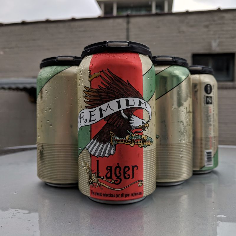Burial Beer Co. x Zillicoah Beer Co. 'Premium Lager' 12oz (Can)