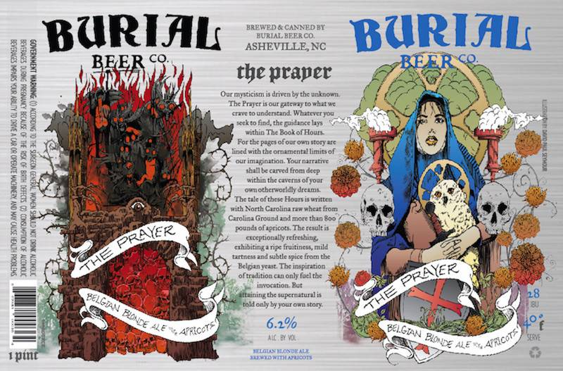 Burial Beer Co. 'The Prayer' Belgian Blonde Ale w/ Apricots 16oz (Can)