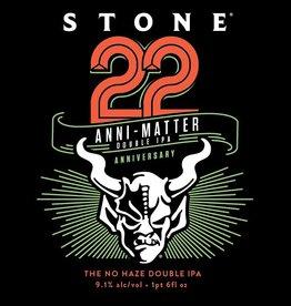 Stone Brewing '22nd Anniversary Anni-Matter' Double IPA 12oz Sgl