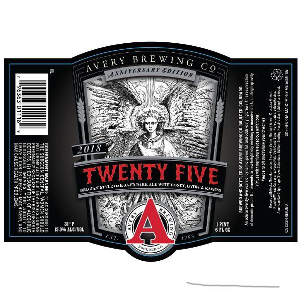 Avery Brewing Co. '25th Anniversary' Belgian Style Oak Aged Dark Ale 22oz