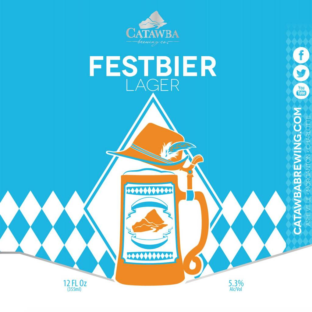 Catawba Brewing Co. 'Festbier' Lager 12oz (Can)