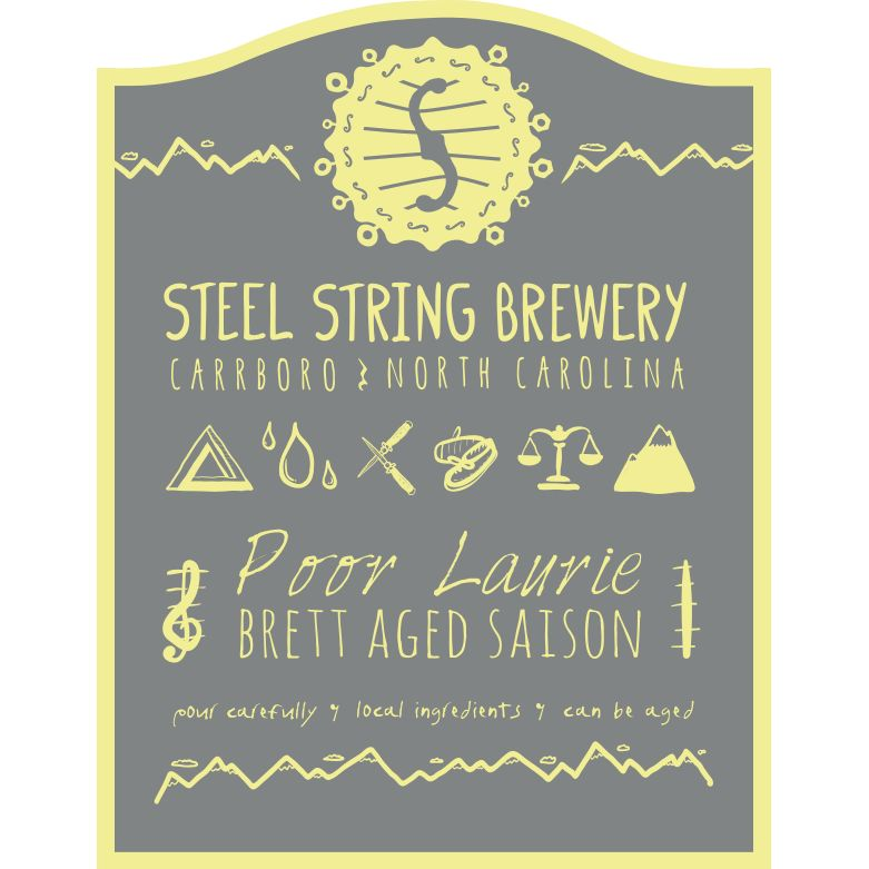 Steel String 'Poor Laurie' Brett Saison aged in Sauvignon Blanc Barrels 500ml