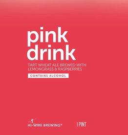 Hi-Wire Brewing Hi-Wire 'Pink Drink' Tart Wheat Ale w/ Lemongrass & Raspberries 16oz (Can)