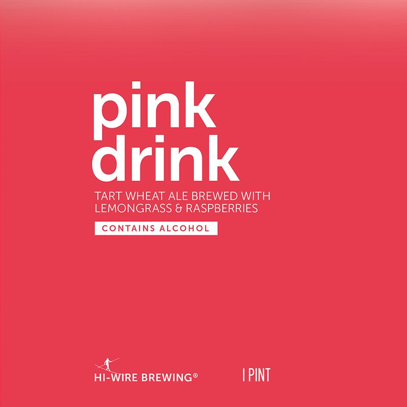 Hi-Wire Brewing Hi-Wire 'Pink Drink' Tart Wheat Ale w/ Lemongrass & Raspberries 16oz (Can)