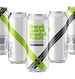 Hi-Wire Brewing 'Hazy & Juicy & Hoppy & Fresh 3.0' New England-style Double IPA 16oz (Can)