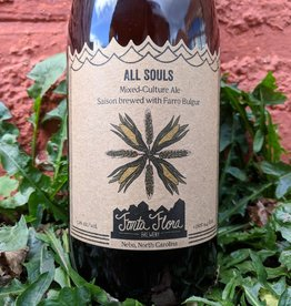 Fonta Flora Brewery 'All Souls' Mixed Culture Saison w/ Farro Bulgar 750ml