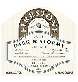 Firestone Walker 'Dark & Stormy' Rum Barrel-aged Ale w/ Lime & Ginger 375ml
