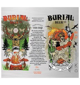 Burial Beer Co. 'Tin Cup Camp Stout' brewed with Coffee 16oz (Can)