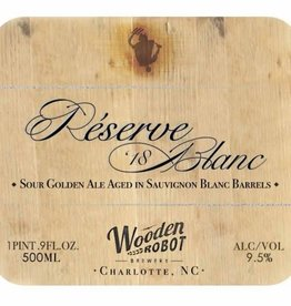 Wooden Robot 'Reserve Blanc 18' Barrel-aged Sour Golden Ale 500ml