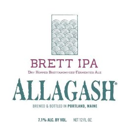 Allagash Brewing Co. 'Brett IPA' 12oz Sgl
