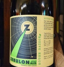 Zebulon Artisan Ales 'House Saizon' 750ml
