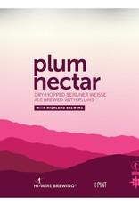 Hi-Wire Brewing x Highland Brewing 'Plum Nectar' Ale 16oz (Can)