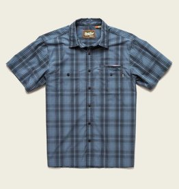Howler Brothers HB - Aransas SS- Avery Plaid: Steel Blue / Black