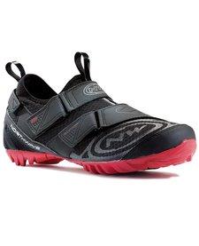 Chaussure Northwave , Multi App noir / rouge ,cyclo-tourisme