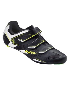 Northwave, Sonic 2, Road shoes, Black/White/Yellow Fluo,