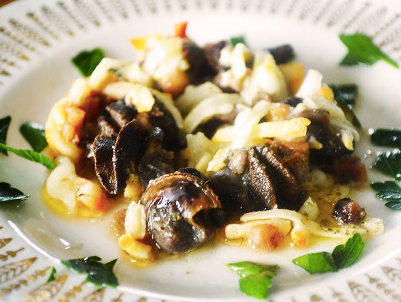 Escargots ail & champignons gratinés