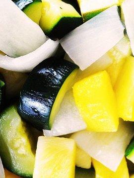 Courges vertes, ananas & oignons - 2 POUR 7$ SPÉCIAL CIRCULAIRE AOÛT