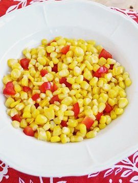 (3ième GRATUIT) Maïs & poivrons rouges