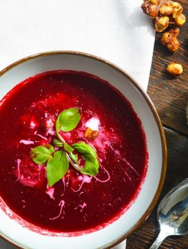 Potage de betteraves & framboises