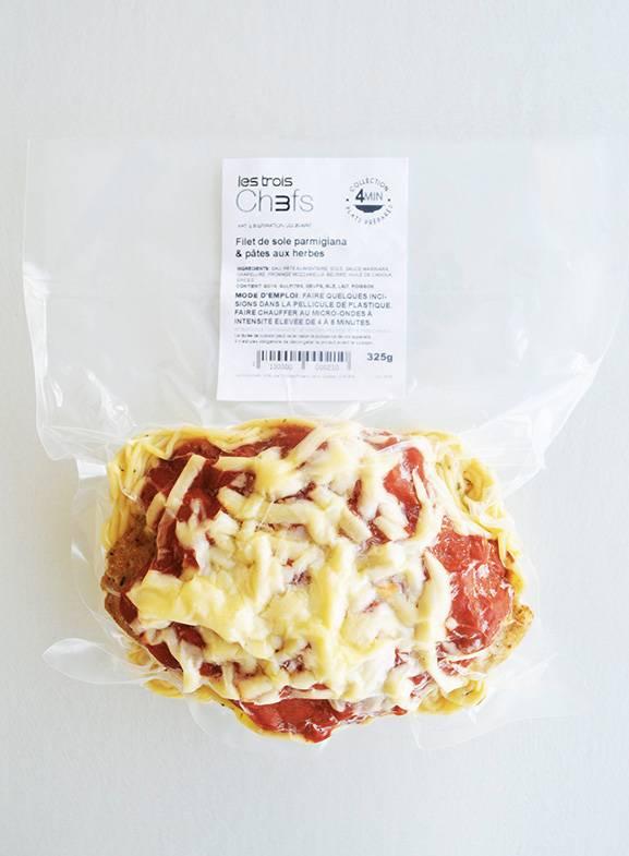 Filet de sole parmigiana & pâtes aux herbes (325 g)