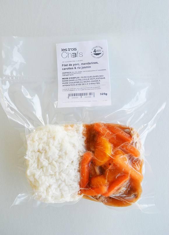 Filet de porc, mandarines, gingembre & riz jasmin (325 g)