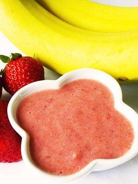 Purée de bananes & fraises